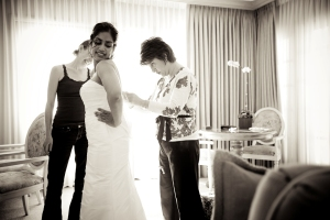 Wedding Jeannie lacing up corset for Bride Rita