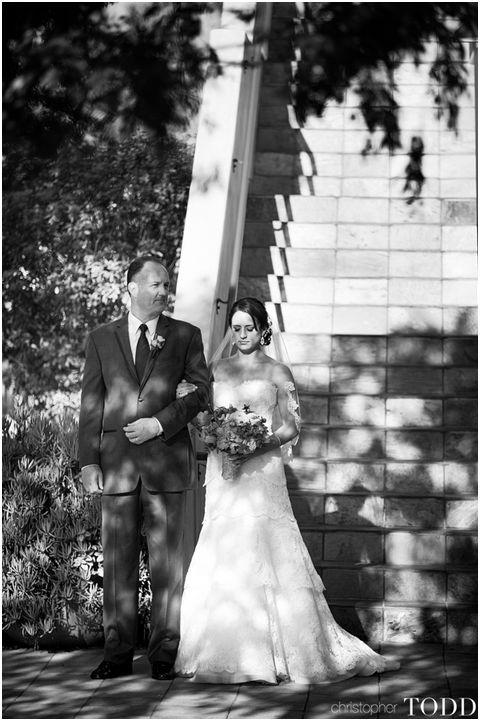 Bride and Her Father at Serra Plaza