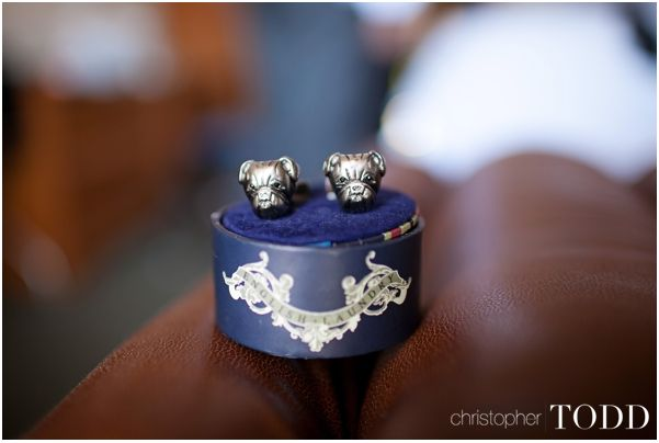 Groom's Bulldog Cuff Links